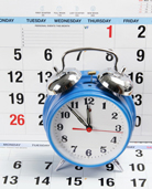 Image of clock and calendar